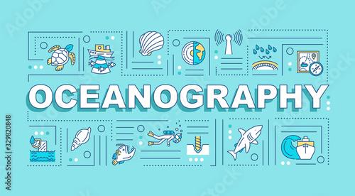 Obraz na plátne Oceanography word concepts banner