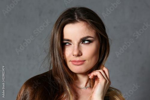 Beautiful european woman portrait Canvas Print