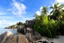 Les Rochers De L'Anse Source D'Argent, La Digue, Seychelles