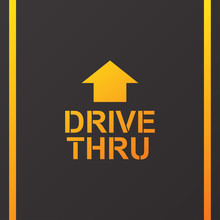 Drive Thru Text On The Road Ve...