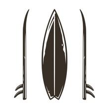 Surf Board Ornament Graphic Su...
