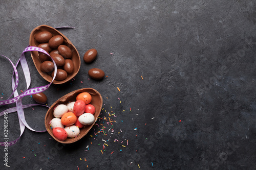 Obraz Chocolate easter eggs - fototapety do salonu
