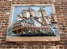 Wall Tile On Old Amsterdam Bui...