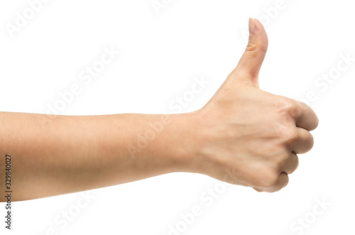 Isolate hand, thumbs up
