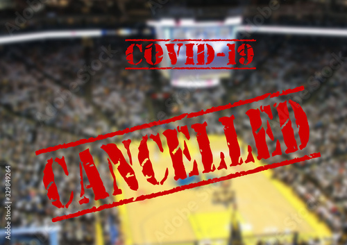 fototapeta na drzwi i meble Sport event cancelled due to coronavirus