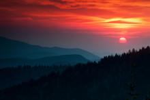 Sunset Over The Smoky Mountain...