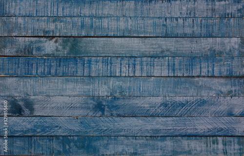 viejo y desgastado fondo de madera azul y gris Canvas Print