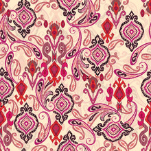 Seamless Mughal Floral With Ethnic Paisley With Pattern On Digital Cream Background