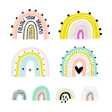 Rainbow Set. Childish Print Fo...
