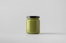 Pumpkin / Hemp Seed Butter Jar Mock-Up