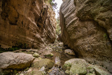 Avakas Gorge In Cyprus. Little...