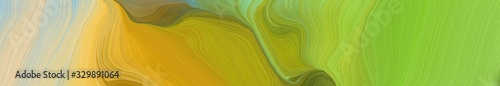 Fototapety, obrazy: landscape banner with waves. modern waves background design with yellow green, pastel gray and pastel orange color