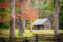 Autumn At An Historic Cabin In...