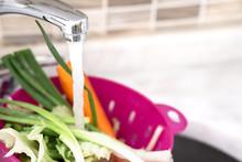 Washing Vegetables With Plenty...
