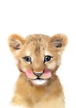 Lion Cub Print • Safari Nurs...