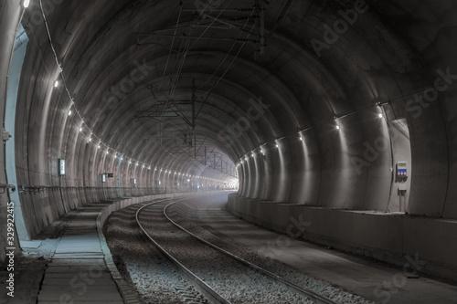 Obraz na plátně railway tunnel