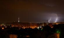 Lightning Over The Evening City