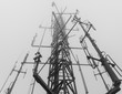 canvas print picture - radio tower
