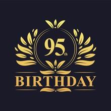 Luxury 95th Birthday Logo, 95 ...