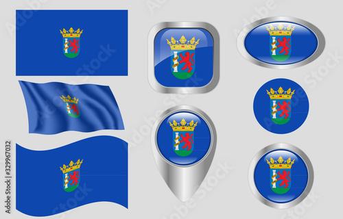 Flag of Badajoz, Spain