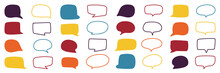 Speech Bubble, Speech Balloon, Doodle Hand Drawn Vector Collection.
