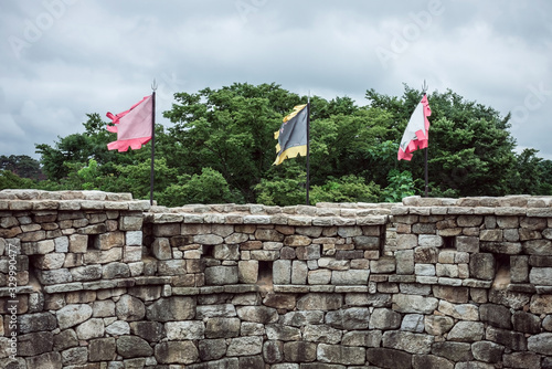 The old fortress wall. Wallpaper Mural