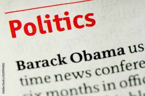 Valokuvatapetti Word Politics