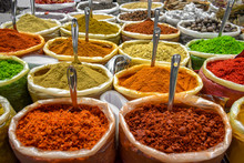 Colorful Spices Of Many Variet...