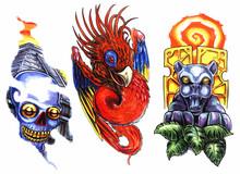 Religious Newskool Tattoo Set