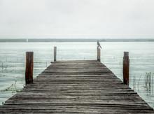 Wooden Pier In Bacalar Lagoon ...