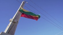 Bolivia Flag Flying In Slow Mo...