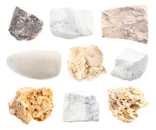 Set Of Various Limestone Rocks...