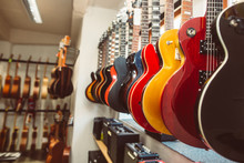 Close Up Of Electric Guitars I...