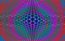 Geometric Background With Chec...