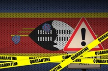 Swaziland Flag And Covid-19 Qu...