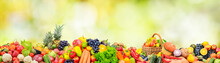 Wide Panoramic Photo Fruits, V...