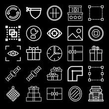 Square 25 Outline Icon Set