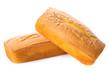 Leinwandbild Motiv Bizcocho de panadería aislado sobre un fondo blanco