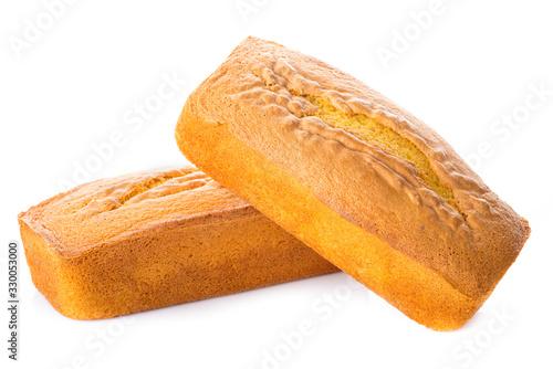 Cuadros en Lienzo Bizcocho de panadería aislado sobre un fondo blanco