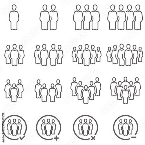 Foto people and population icon set,vector and illustration