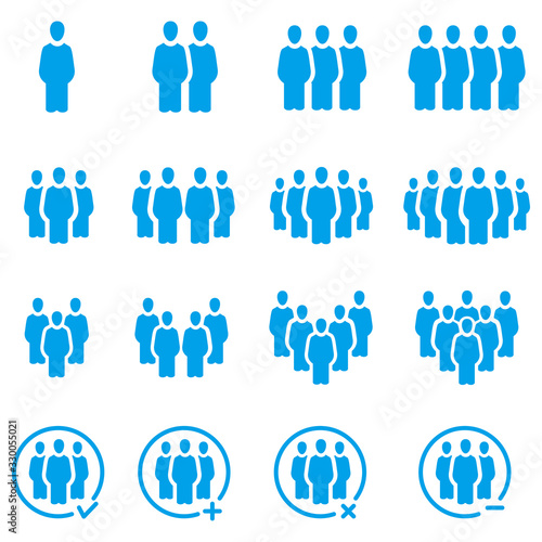 people and population icon set,vector and illustration Wallpaper Mural