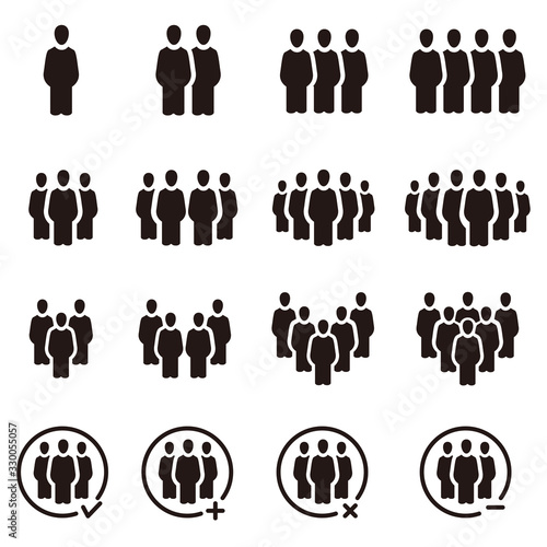 people and population icon set,vector and illustration Fototapete
