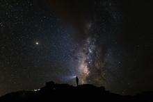 Vía Láctea En La Noche