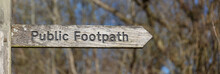 Wooden Weathered Public Footpa...