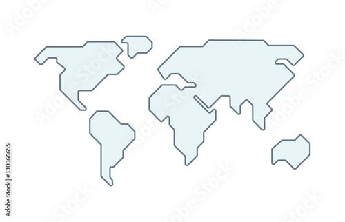 Fotografie, Obraz World vector map