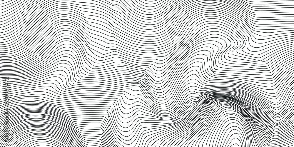 Fototapeta Wave Lines Pattern Abstract Background. Vector