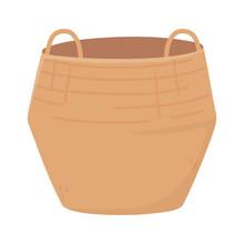 Big Wicker Basket Handles Icon Design