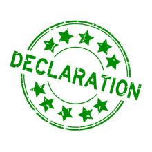Grunge Green Declaration Word ...