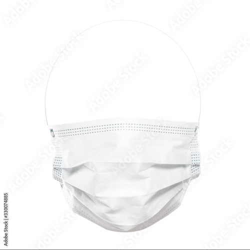 Leinwand Poster Face protection mask isolated on white background