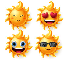Sun Summer Characters Vector S...